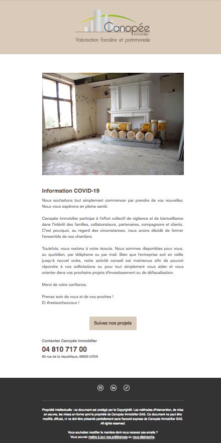 Canopée Immobilier fait face au Covid-19