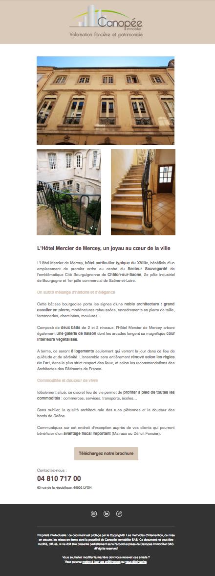 Réhabilitation de l'hotel Mercier à Chalon-sur-Saone