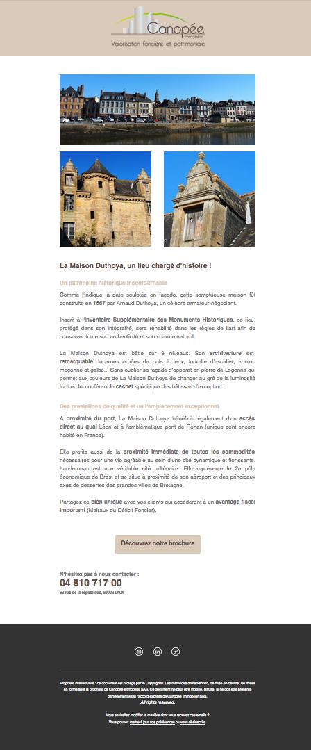 Présentation de la réhabilitation de la Maison Duthoya à Landerneau